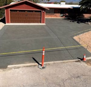 A brand new stamped concrete driveway for a customer in Mesquite, TX