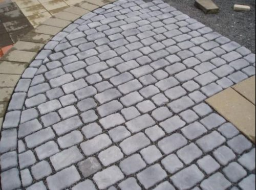 Cobblestone patio in Mesquite, TX