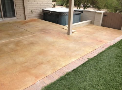 Outdoor concrete patio ideas in Mesquite, TX